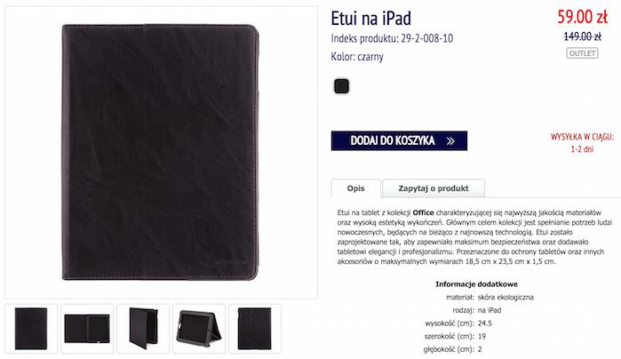 b41d7cbf2dfd1 Wittchen: skórzane etui na iPad 29-2-008-10 za 59 zł (60% taniej ...