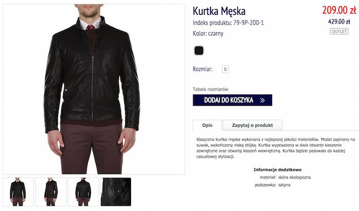 12a5251d8dad8 Wittchen: skórzana kurtka męska 79-9P-200-1 za 209 zł (50% taniej ...