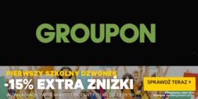 Groupon 15 proc rabatu na Twoje miasto i Produkty